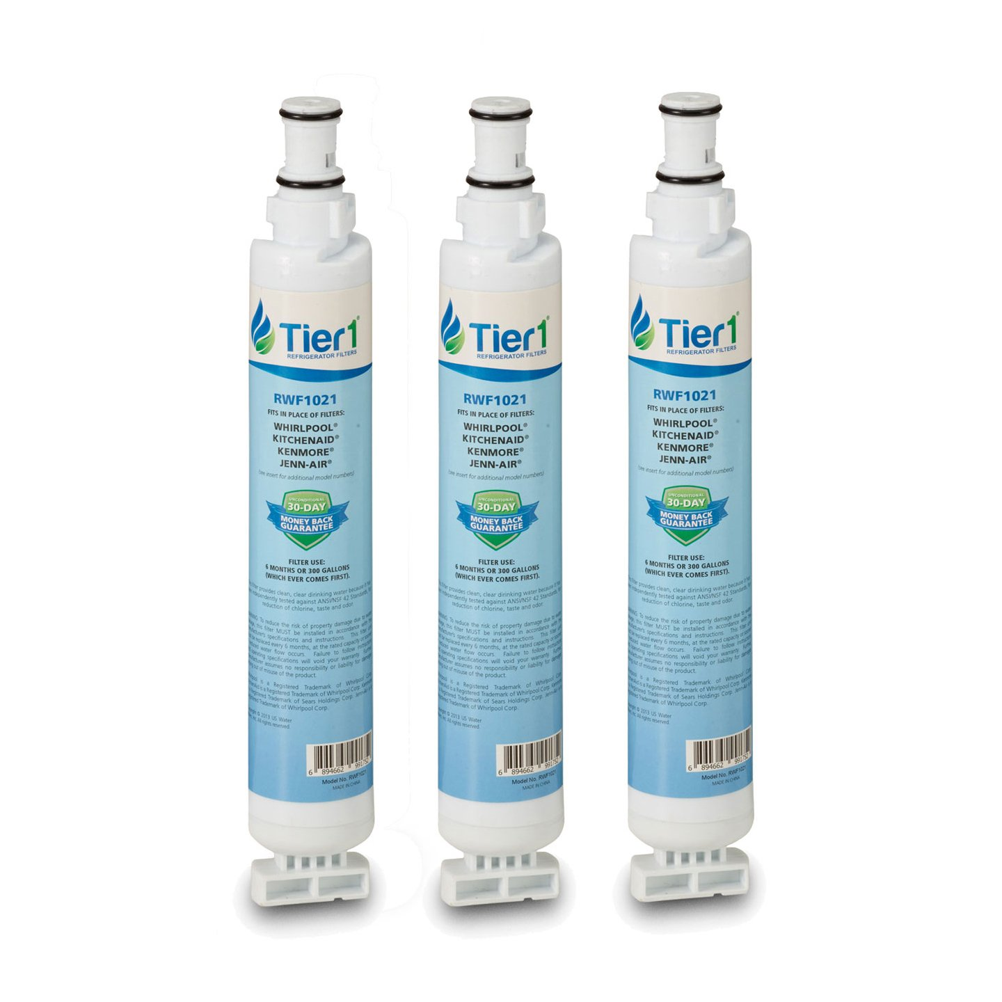 Tier1 Replacement for Whirlpool 4396701, EDR6D1, Kenmore 9915, 46-9915, NL120V, 4396701, 4396702 Refrigerator Water Filter 3 Pack