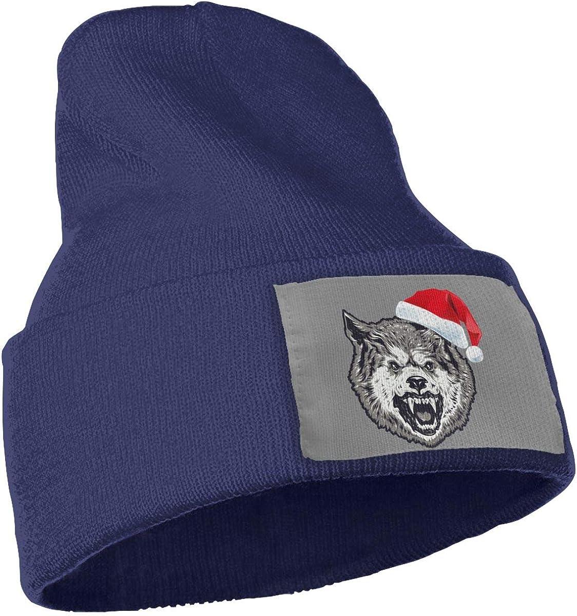 Oopp Jfhg Christmas Bear Wool Cap Knit Caps Unisex Winter Navy