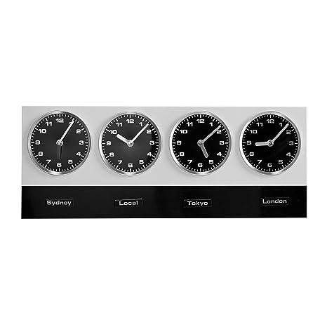 Reloj de pared - Hora mundial - con imanes para diferentes nombres de países