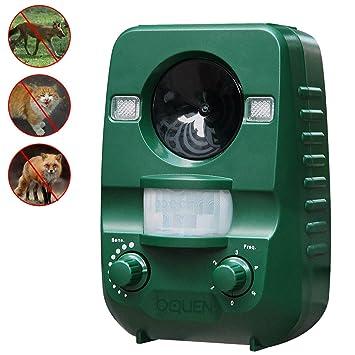 Repelente de gatos BQuen ultrasónico, solar, funciona a baterías,