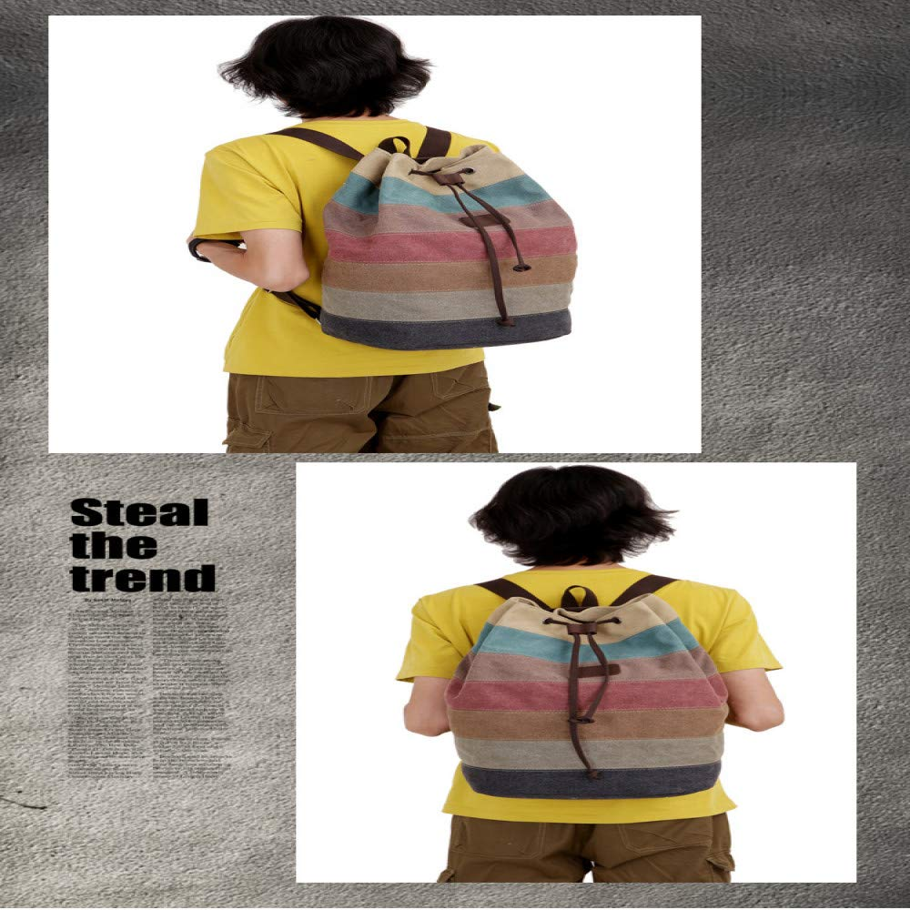 LFGCL LFGCL LFGCL Segeltuchrucksack-Frauenfarbstreifen nähender Eimerbeutel Reise backpackbags Frauen B07PWPQ8JK Ruckscke Nicht so teuer abd241