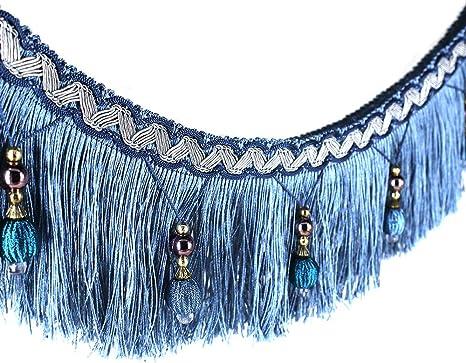 D/écoration de 1,83 m tress/ée Table de mariage d/écor/ée red avec pompons accroch/és Ornement /à franges en tissu- Bande de ruban