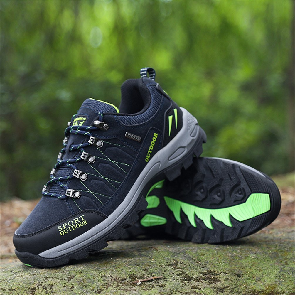 Rock Climbing Shoes Unisex Hiking Shoes Men Women Walking Sneaker Skid Proof Waterproof for Ourdoor Use-Blue-47 EU by Sherry Love (Image #5)