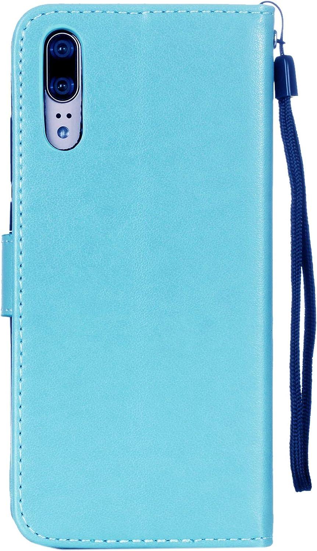 Chouette Bleu KM-Panda Housse Coque Portefeuille pour Apple iPhone 5 5S Se Chat Hibou Papillon Arbre Cuir PU Wallet Cover Etui Flip Case