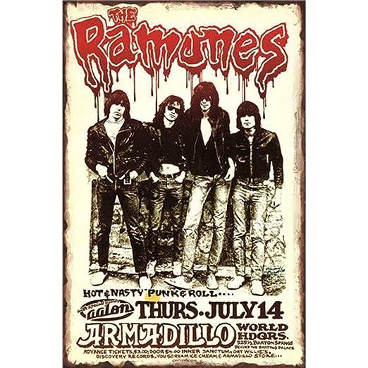 Ramones Póster De Pared Metal Retro Placa Cartel Cartel De Chapa Vintage Placas Decorativas Poster por Café Bar Garaje Salón Dormitorio