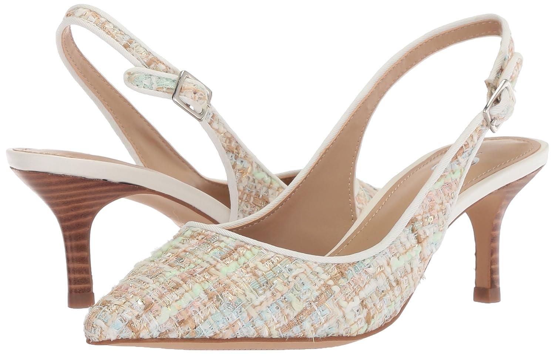 The Fix Women's Felicia Slingback Kitten Heel Pump B0788C71CJ Tweed 8.5 B(M) US|Bright White/Multi Tweed B0788C71CJ 3988d4