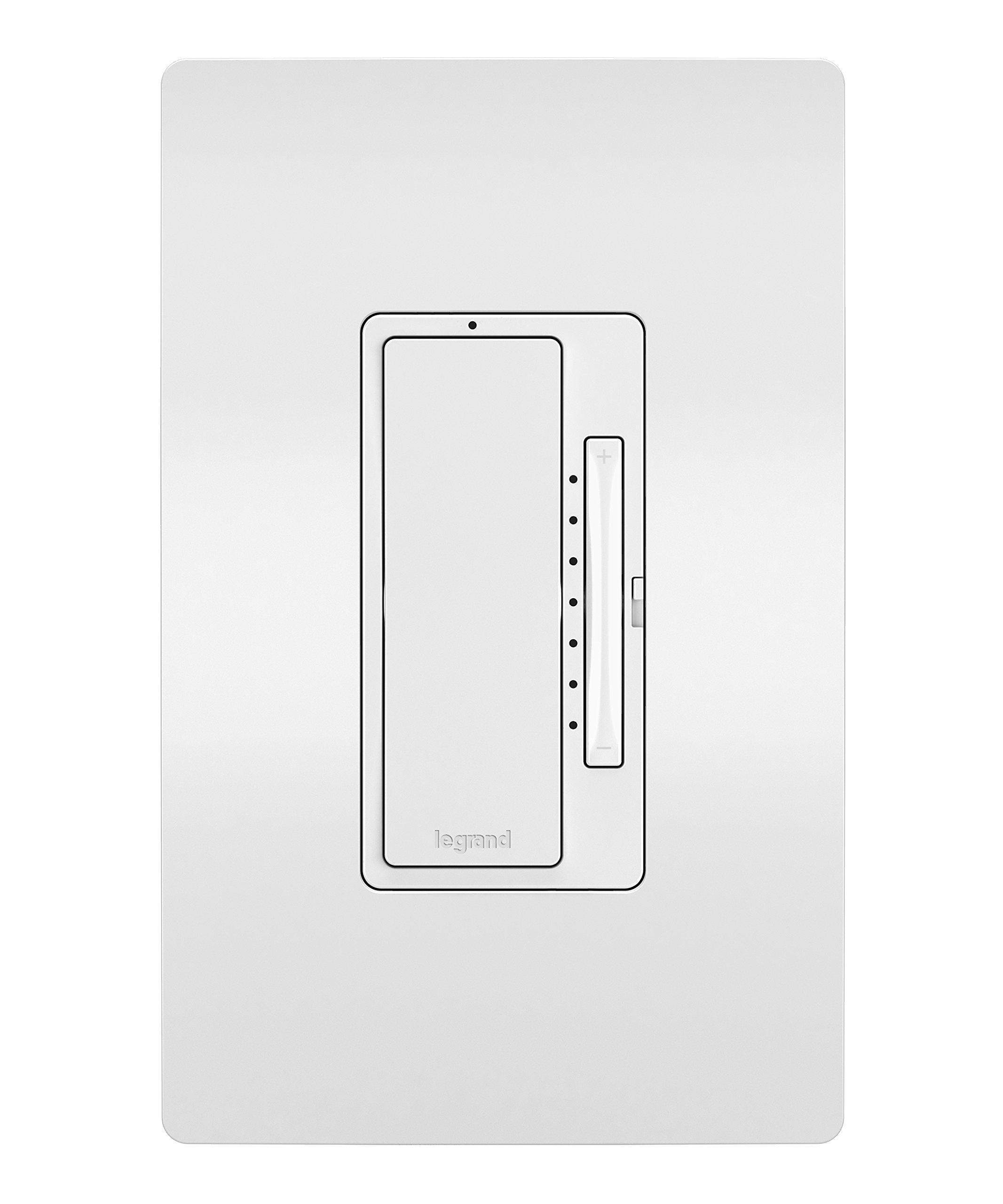 Legrand - Pass & Seymour Radiant Smart WWRL50WH Tru-Universal Wi-Fi Enabled Dimmer, White