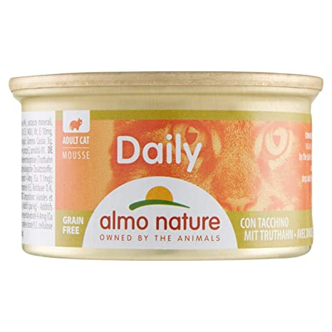 Almo Nature Tradition Comida Húmeda para Gatos Adultos almo Nature Daily Mousse con Pavo 85 gr