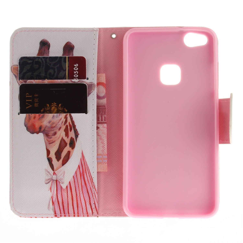 GOCDLJ Huawei P9 Lite Custodia Copertura di Ccuoio Cover in PU Guscio Caso Shell Covers Coltello Chiusura Magnetica Snap-on Slot Borsa Case Disegno Tacchi Alti
