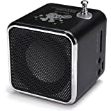 Portable Mini Stereo FM Radio MP3 Speaker Music Player Support Micro SD (Black)