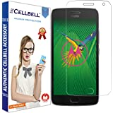 CELLBELL Tempered Glass Screen Protector for Moto G5 Plus (Clear Transparent)