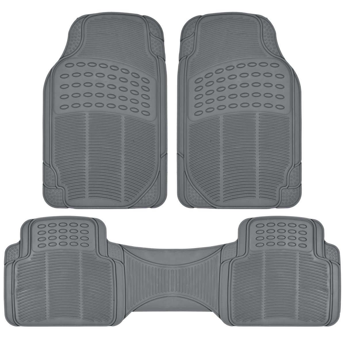 Amazon universal fit floor mats automotive bdk heavy duty car floor mats universal for car truck suv full 3pc set sciox Image collections