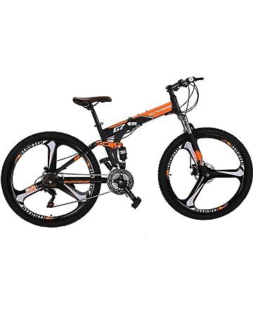 """76b8231c72c EUROBIKE Folding Bike 21 Speed Full Suspension Mountain Bicycle 27.5"""" Daul  Disc Brake"""