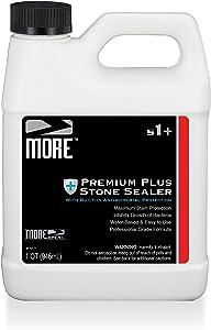 More Premium Plus Stone Sealer Protector for Countertops - Natural Stone, Marble, Granite Surfaces - Advanced Formula (Quart / 32oz)