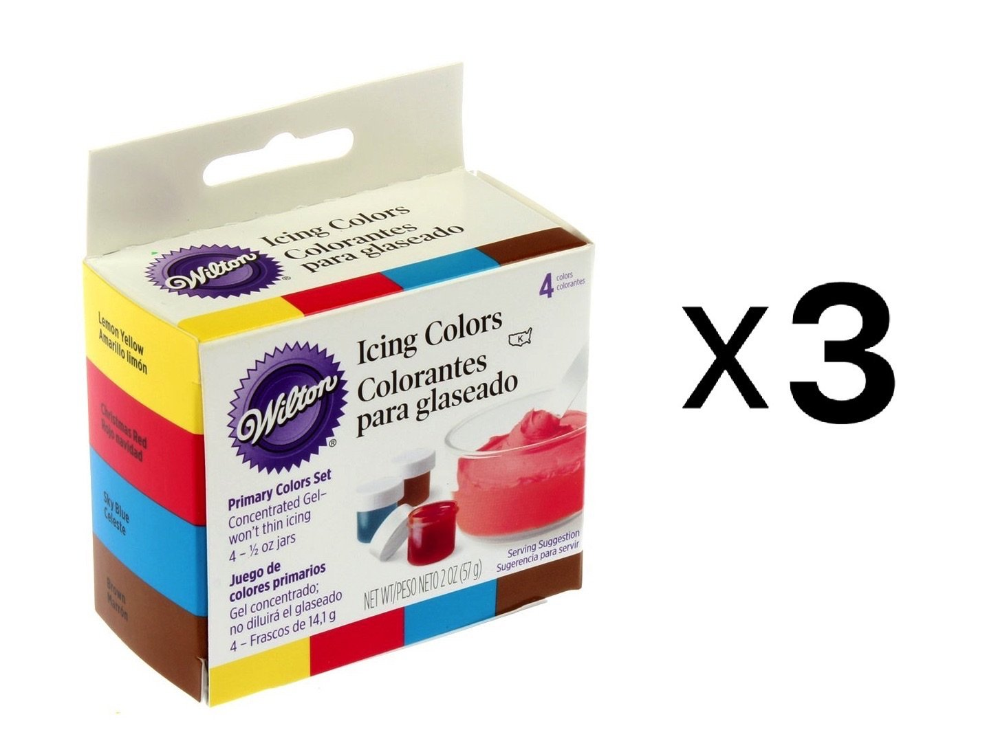 Wilton Primary Icing Colors, Set Of 4 Cake Decorating ...