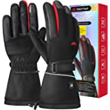 SabotHeat Heated Gloves for Men Women - Electric Battery Heated Gloves, 2400mAh Rechargeable Heated Motorcycle Gloves…