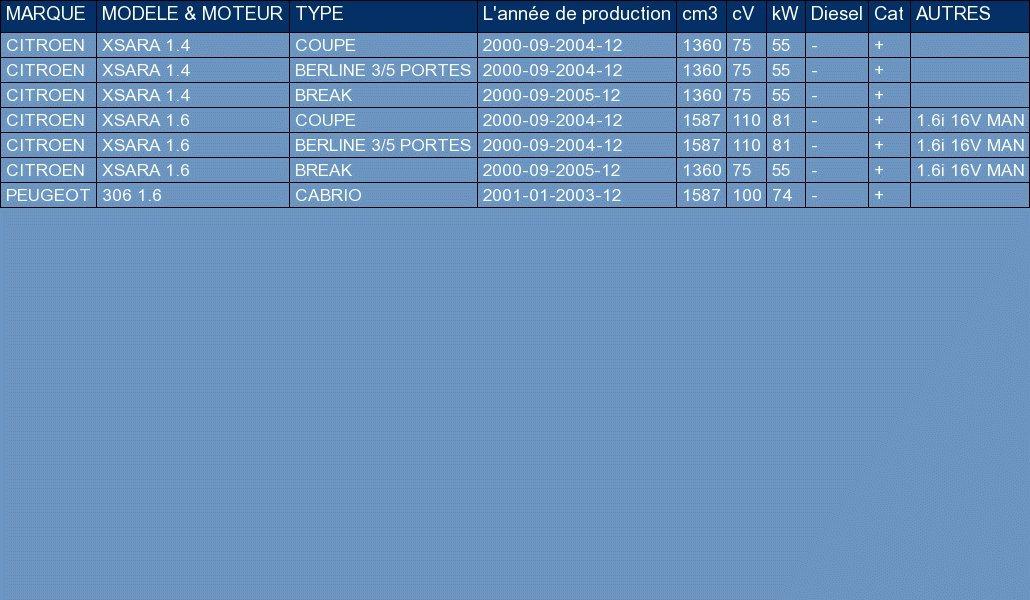 ETS-EXHAUST 195 Silencioso Intermedio pour XSARA 1.4 1.6 2000-2005 // 306 1.6 CABRIO 100hp 2001-2003