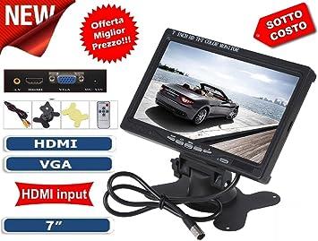TV Televisor Monitor LCD Digital 7 TFT Videovigilancia AV VGA 2 ...