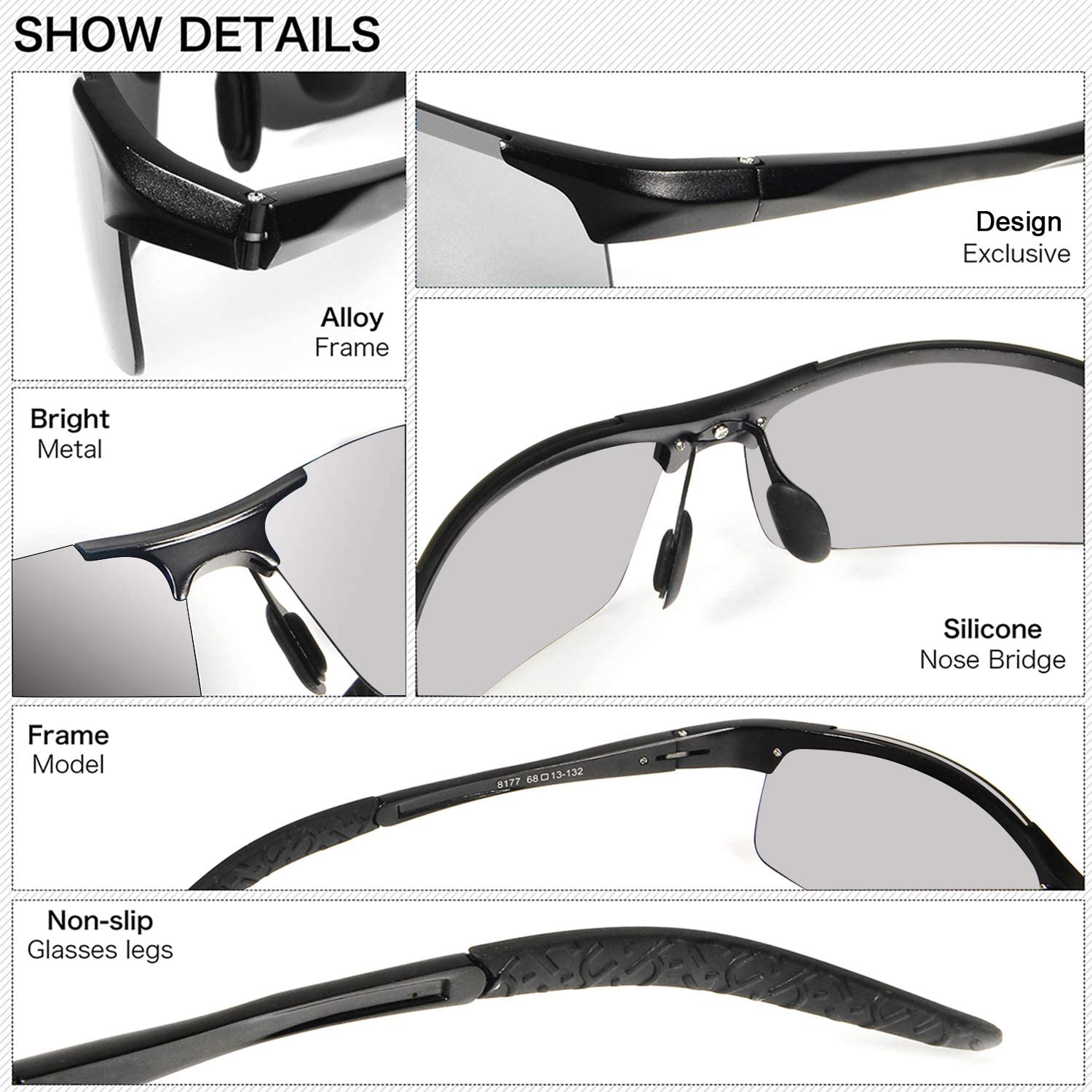 YIMI Polarized Photochromic Driving z87 Sunglasses For Men Women Day and Night