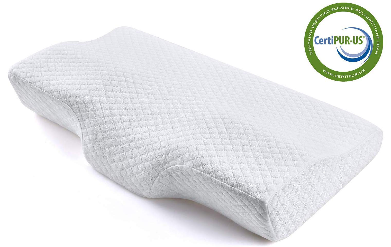 Memory Foam Pillow, Ergonomic Cervical Pillow for Neck Pain for Side Sleepers, Back and Stomach Sleepers, Orthopedic Sleeping Pillow with Pillow Case – Standard Size