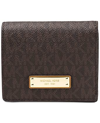 1f0b6433186d8d Image Unavailable. Image not available for. Color: Michael Kors Jet Set  Travel Logo Card Holder ...