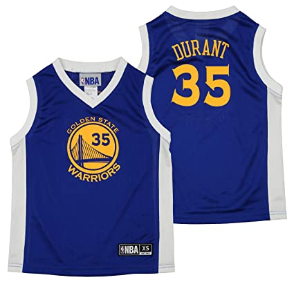 cheap for discount 6223c 04a69 Outerstuff NBA Youth Boys Golden State Warriors Kevin Durant #35 Player  Jersey, Blue
