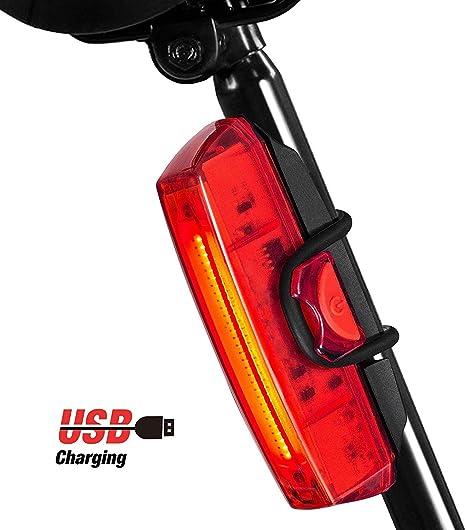 Luz Bicicleta Trasera, Rodozn Led Bicicleta Recargable USB con 6 ...