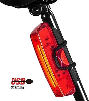 Luz Bicicleta Trasera, Rodozn Led Bicicleta Recargable USB con 6 Modos Luz Cola, Lámpara Luz Alerta Impermeable y Fácil de Instalar - Rojo Luz: Amazon.es: Deportes y aire libre