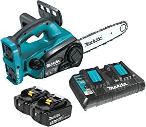 "Makita XCU02PT 18V X2 (36V) LXT Lithium-Ion Cordless 12"" Chain Saw Kit (5.0Ah),Teal"