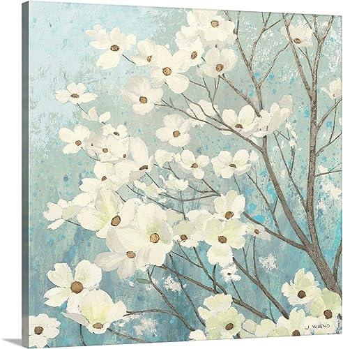 Dogwood Blossoms I Canvas Wall Art Print