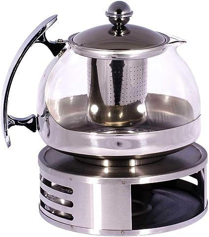 SIDCO® calientaplatos – Calientaplatos té Calentador Té luz Hornillo calentador A. 2807 Acero Inoxidable