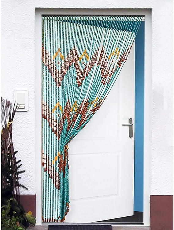 Hogar y Mas Cortina para Puerta de Bambú Natural, Azul Marino. Sostenible, exenta de plástico 90cm X 200cm: Amazon.es: Hogar