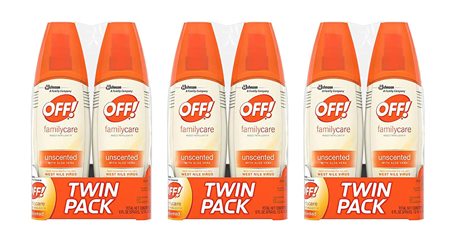 OFF! FamilyCare Insect Repellent IV Unscented, 6 oz (Pack - 3) by OFF!