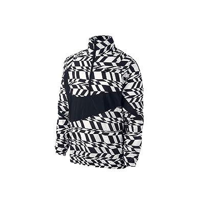 Amazon.com  NIKE Men s Swoosh Jacket Black White AO0862-100 (Size  L ... b56204534205