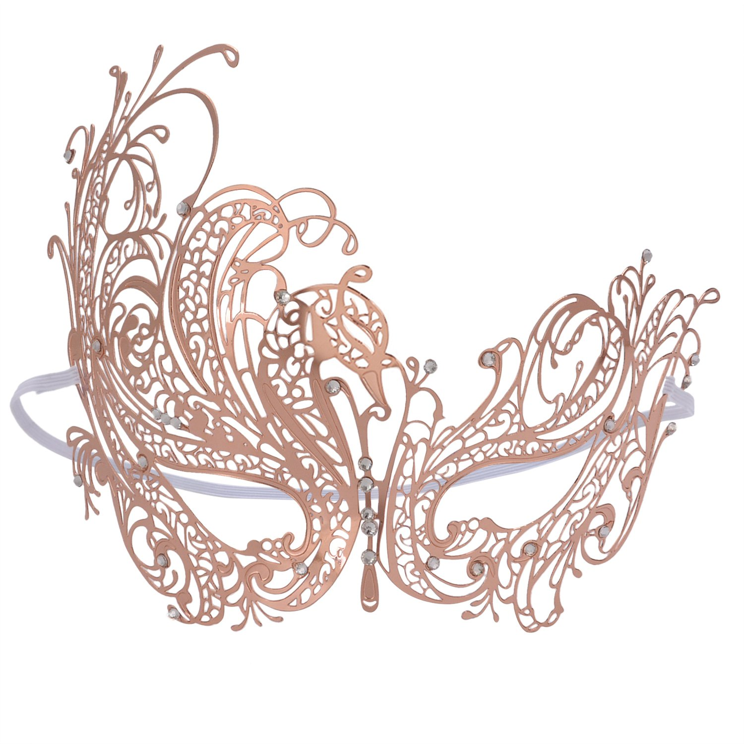 Coxeer Pretty Elegant Lady Masquerade Halloween Party Mask BF001BK