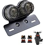 ANKIA 40-LED 40W Motorcycle Tail Light Integrated Running Lamp Brake&Turn Signal Light with License Plate Bracket for Harly M