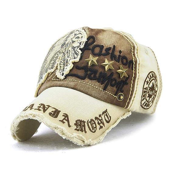 JAMONT Gorra de béisbol de algodón Unisex Snap Back Edge Sombrero ...