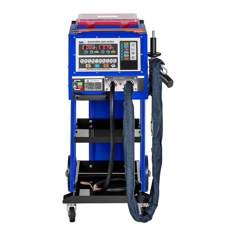 MSW S-SPOTTER 5000 Soldadora por Puntos Spotter Car (5000 A, 400 V, Tiempo de Soldadura 0.01-999 s, Uso Automático / Manual, 10 Funciones Preestablecidas): ...
