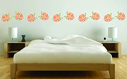 amazon com rose stencil size 5 w x 5 h reusable wall stencils