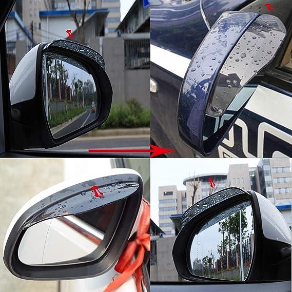 protecci/ón de Sombra Sol para la Lluvia Nieve Cejas FairOnly 2 Protectores universales para Espejo retrovisor de Coche