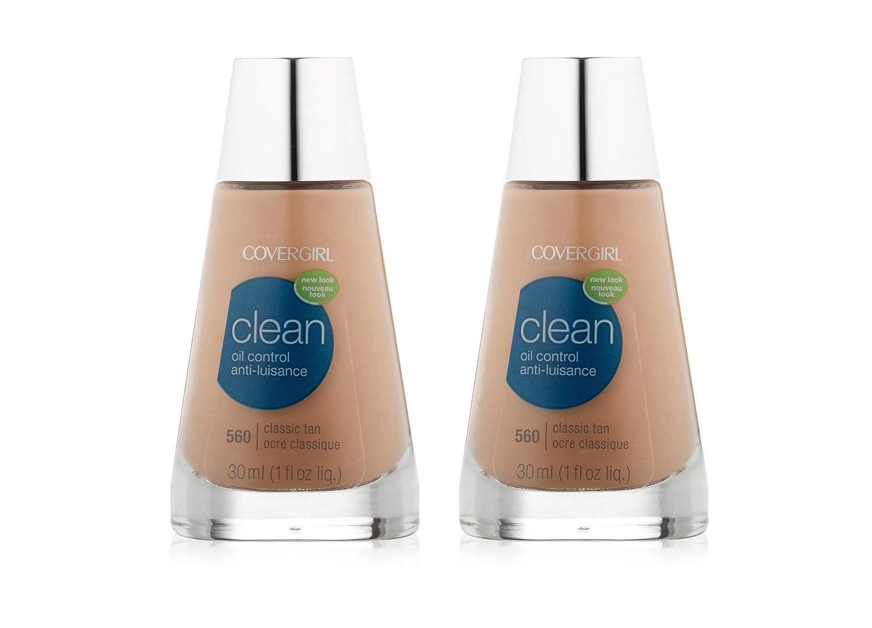 CoverGirl Clean Classic Tan Matte 560 Oil Control Liquid Makeup -- 2 per case.