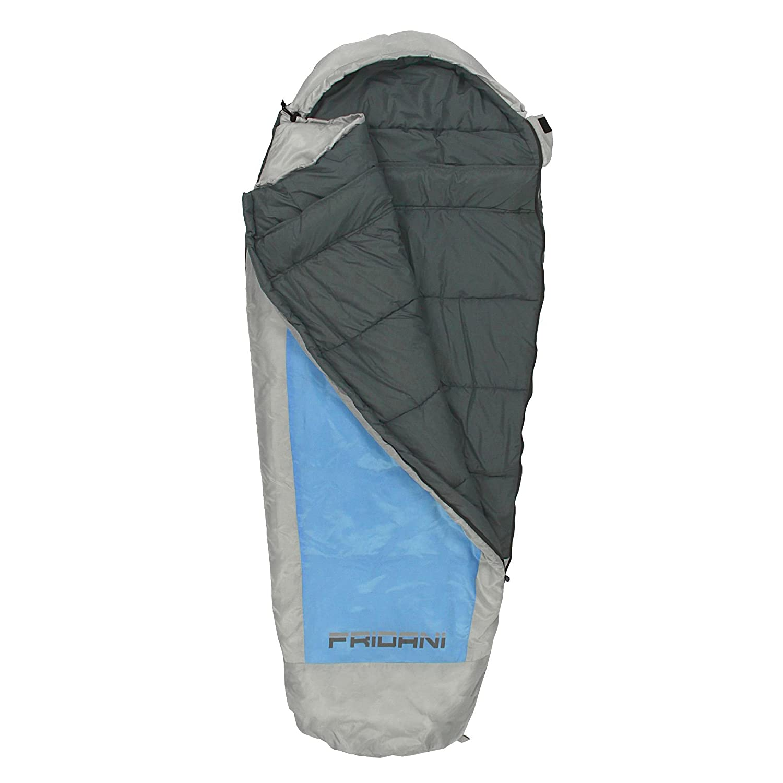 11/°C Blau warm wasserabweisend waschbar Fridani Kinderschlafsack EB 180x75cm XL Mumienschlafsack