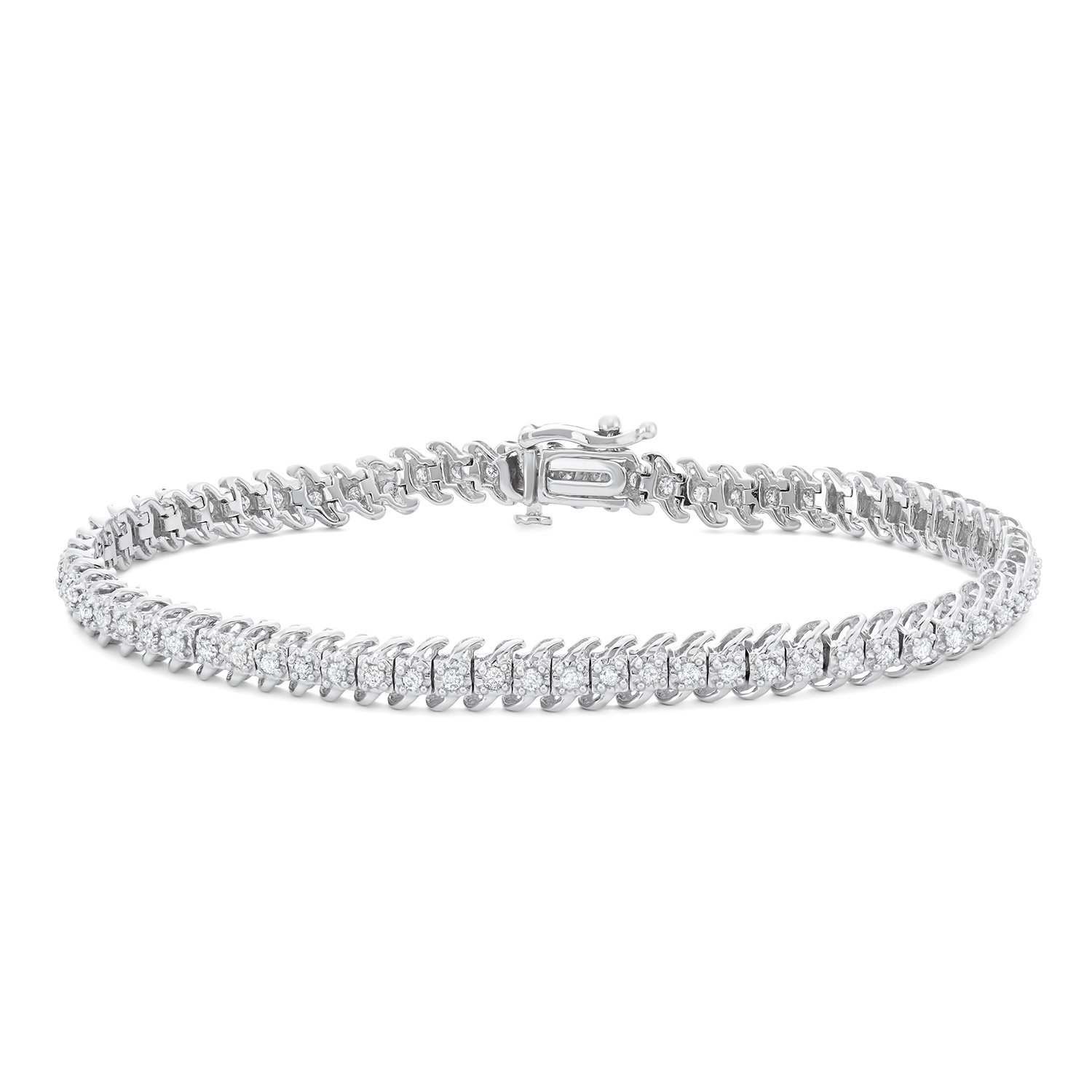1 CTTW White Diamonds Tennis Bracelet in 10KT Gold (I-J, I1-I2)