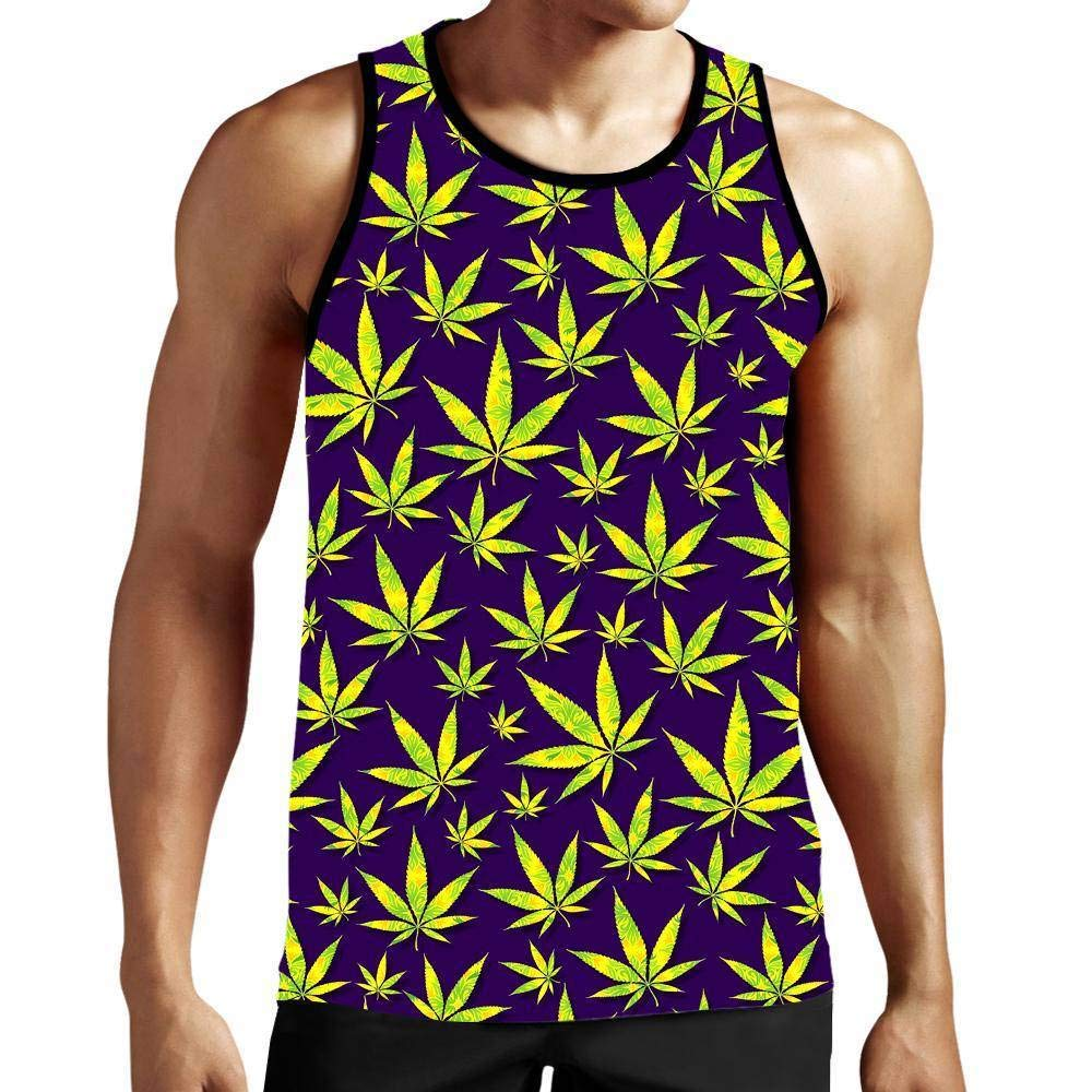 On Cue Apparel Marijuana Leaves Tank Top