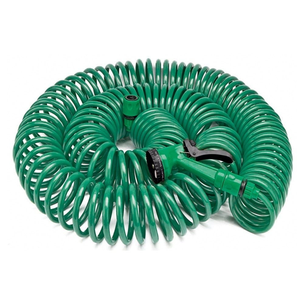 30 Metre Coil 100ft Retractable Garden Hose Pipe With Spray Gun Nozzle. Clifford James