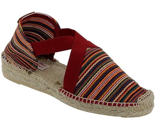 Toni Pons - Alpargata Mujer, Rojo (Granate), 37: Amazon.es: Zapatos y complementos