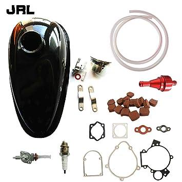 jrl Depósito de aceite depósito y CNC rojo filtro de combustible para 66/80cc Motor