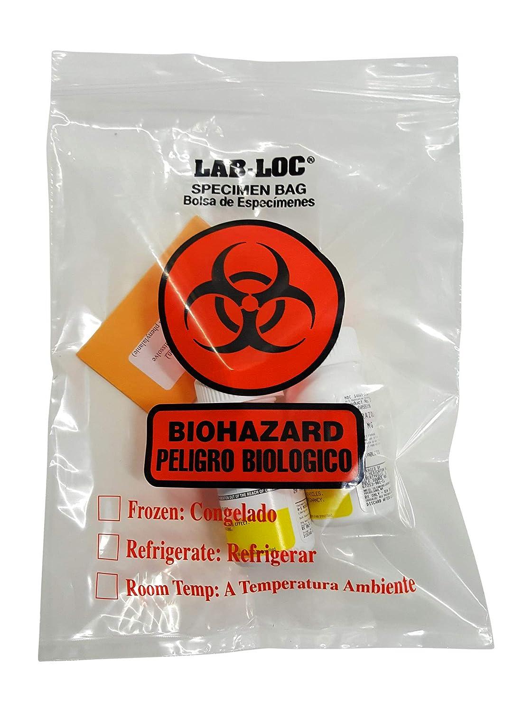 Amazon.com: 38P Lab-Loc Biohazard Specimen Transfer Bag ...