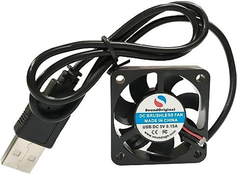 5 Pcs USB 5V 40mm 40x10mm 10mm Brushless DC Computer Cooling Fan Free Shipping