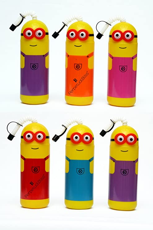 Buy Perpetual Bliss Pack Of 6 Minions Sippers Birthday Party Return Gifts Online At Low Prices In India
